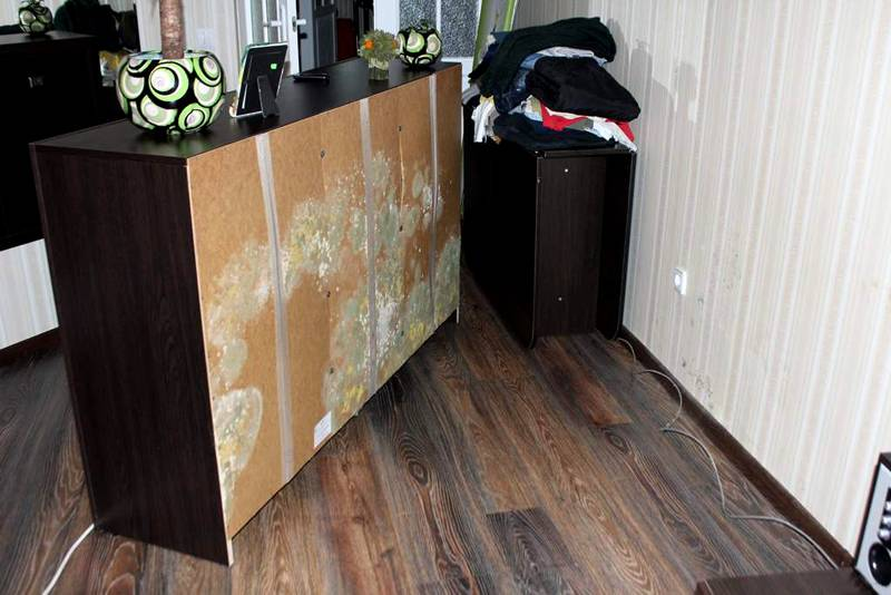 Негативное влияние повышенной влажности на состояние мебели