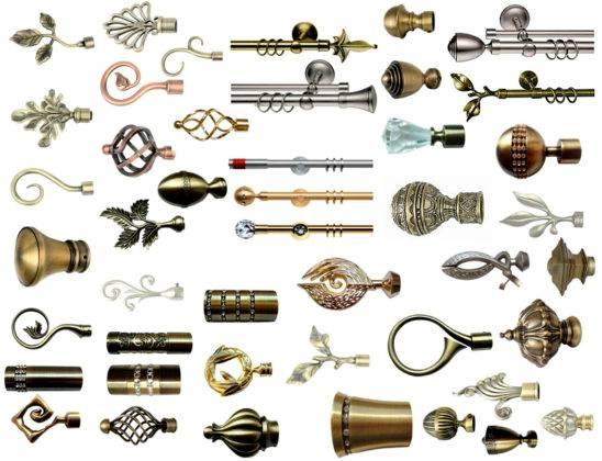 Металлические карнизы, элементы украшения