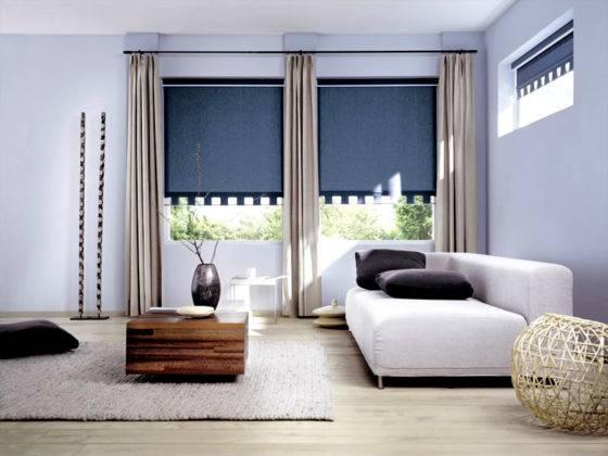 Набор из разных типов штор и креплений