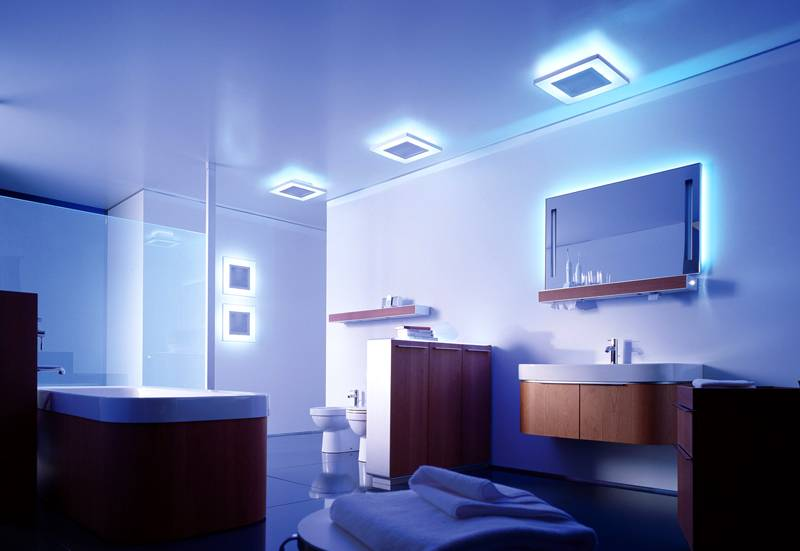 Световой дизайн ванной комнаты