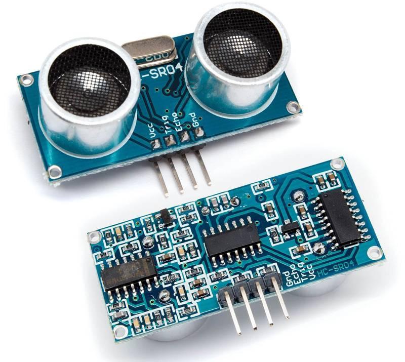 Ультразвуковой излучатель с приемником можно использовать для фиксации перемещений, измерения расстояний