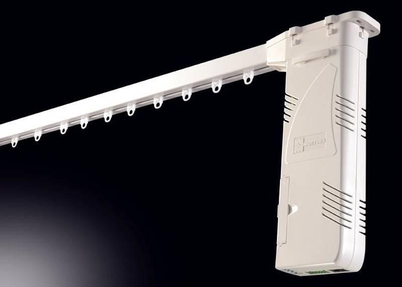 Электропривод для тяжелых портьерных штор