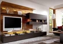 Cтенка в гостиную в современном стиле