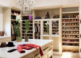 Гардеробная комната: планировка с размерами