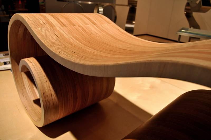 Материал для изготовления мебели может принимать любую форму