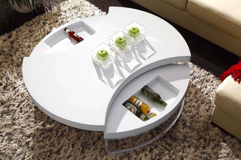 Этот стол подходит для решения дизайнерских задач в ультрасовременных интерьерах. Но возможности его преобразования ограничены