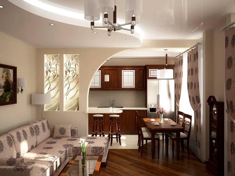 Для оживления дизайна комбинируют цвета в оформлении арки и используют цветное стекло или керамику