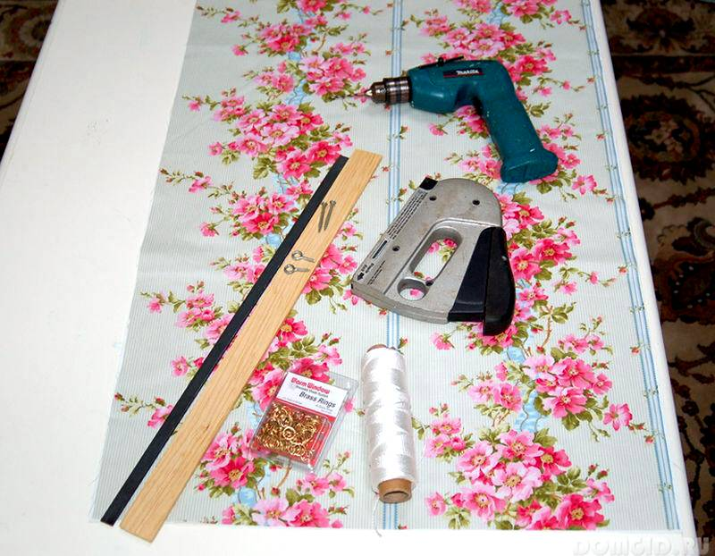 Заранее надо подготовить инструменты, крепежные и другие детали