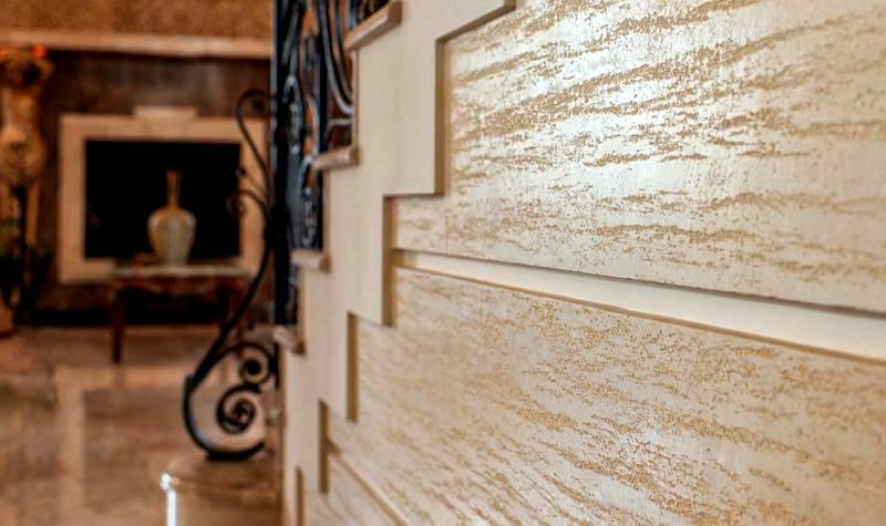 С помощью декоративного покрытия можно визуально выровнять наружные стены и скрыть дефекты кладки