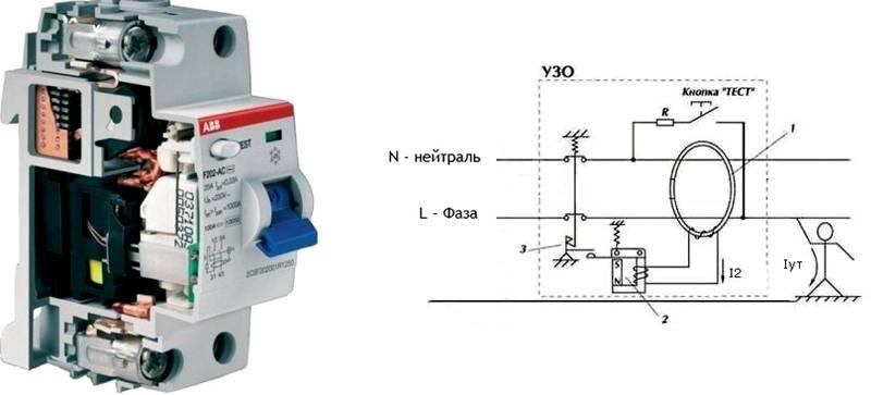 Принцип работы дифференциального электромеханического УЗО