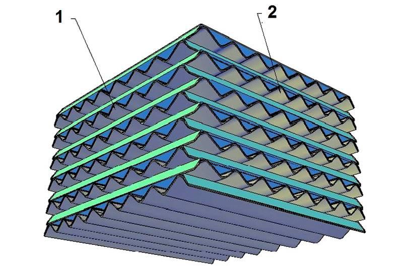 Мембранный рекуператор воздуха