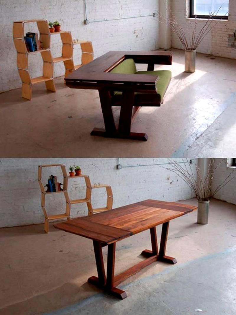 Этот стол при необходимости превращается в кресло