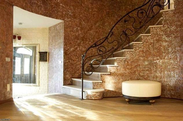 Фото декоративной штукатурки в прихожей и коридоре