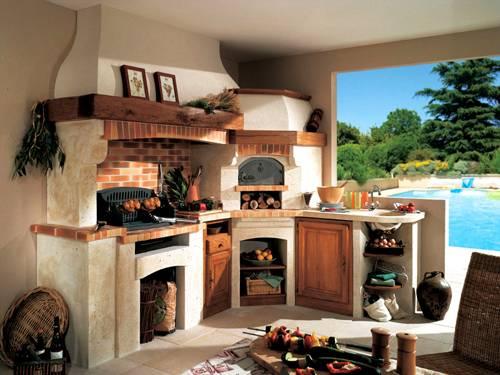 Комбинированные садовые кухни