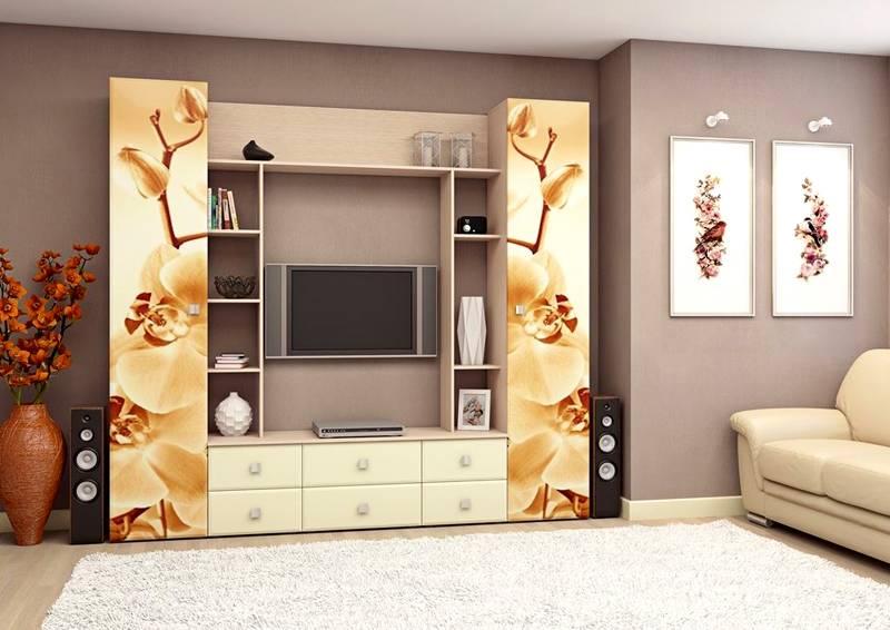 Современные производители мебели предлагают фасады с фотопечатью. Можно подобрать изображение, которое украсит интерьер комнаты