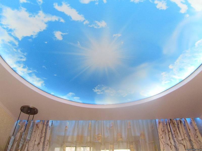 Это фото потолков из ГКЛ с подсветкой демонстрирует успешную реализацию проекта «искусственное небо»