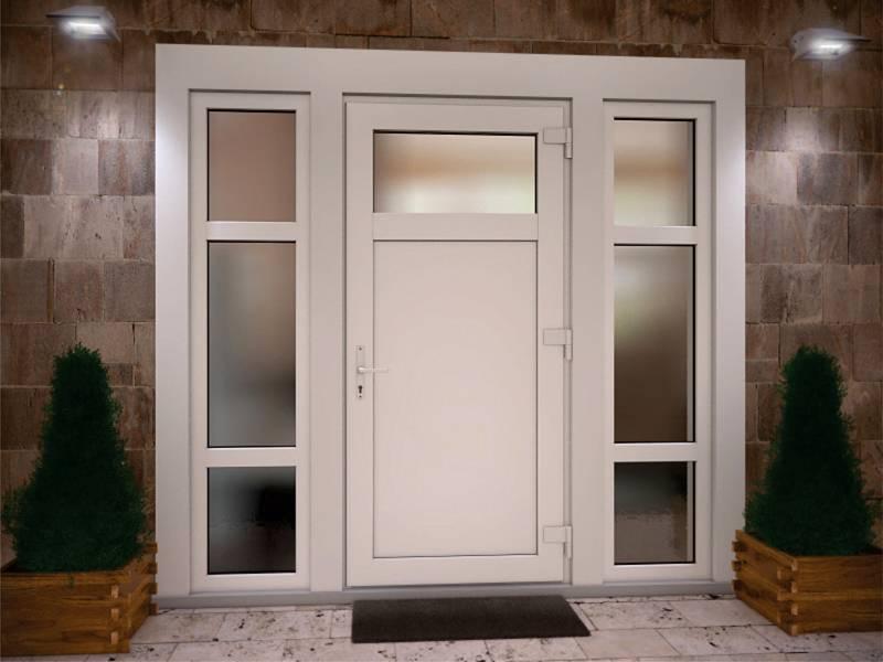 При желании можно заказать пластиковое дверное полотно без стекла