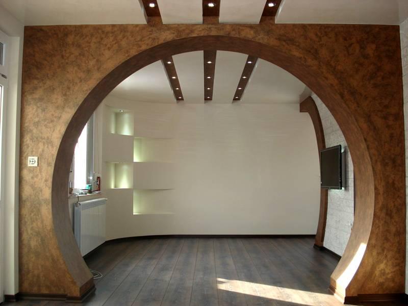 Этот материал используют для создания внутренних арок