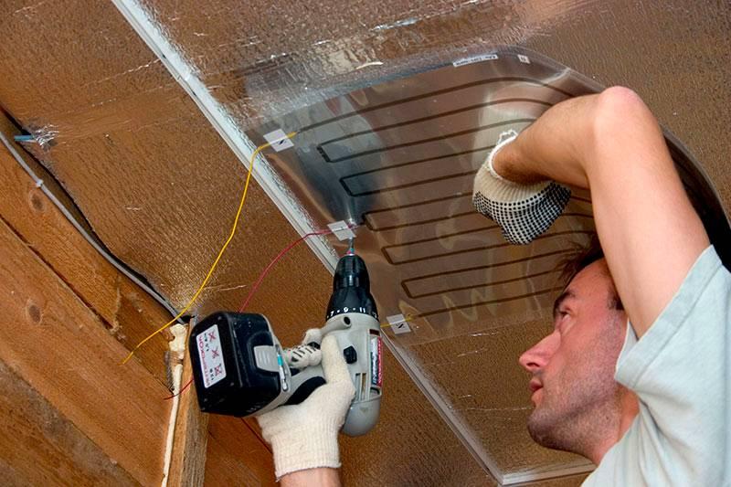 Инфракрасные системы можно размещать на потолке, стенах и полу