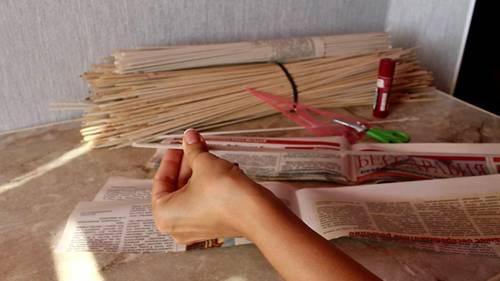 9-16 Газетные трубочки