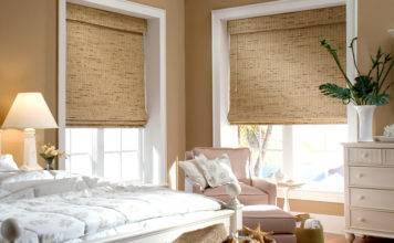 Римские шторы на пластиковые окна: фото