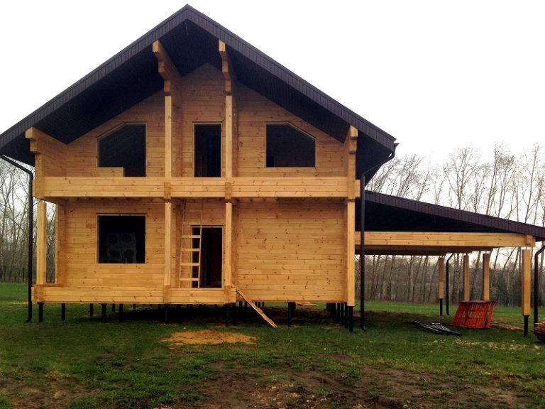 Как построить дом на сваях своими руками 572