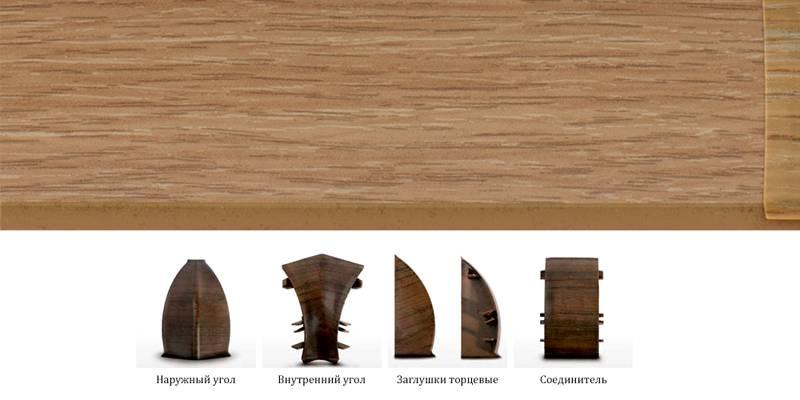 С применением ламинации искусно имитируют поверхность натурального дерева, иных материалов. Специальные элементы используют для угловых и прямых соединений, торцевых заглушек