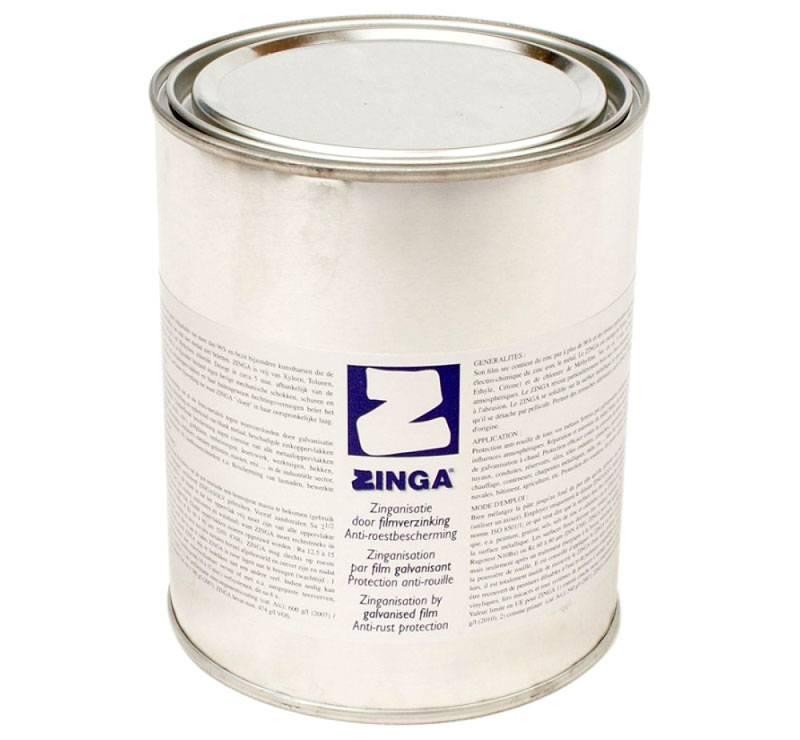 Этот бренд («Zinga») предлагает специальные составы для холодного цинкования. Такие эмали продлевают срок службы изделий до 90-100 лет