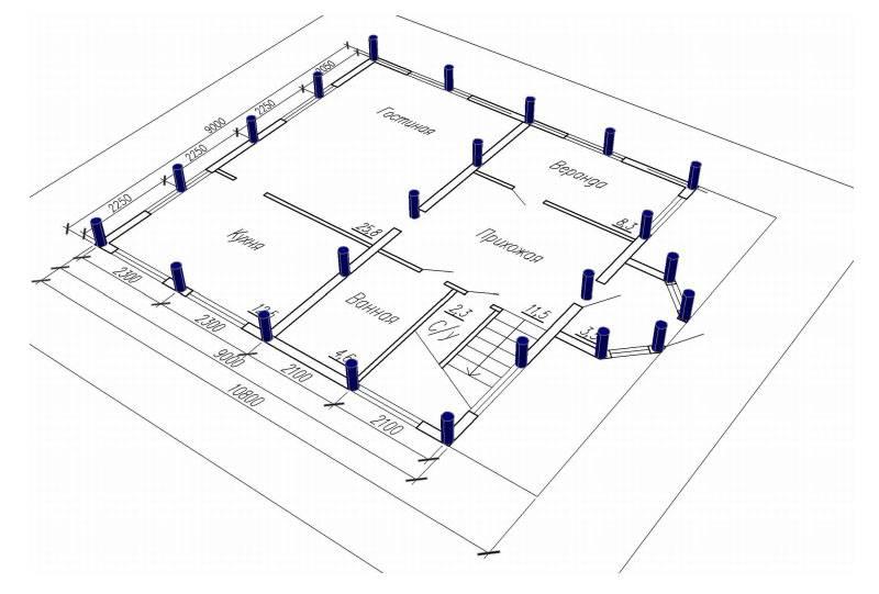 Схема распределения опорных точек