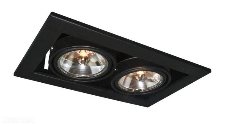 Цена точечных светильников светодиодных потолочных встраиваемых (на фото)выше, чем одиночных. Но для решения отдельных задач пригодится набор из двух и большего количества приборов в едином блоке