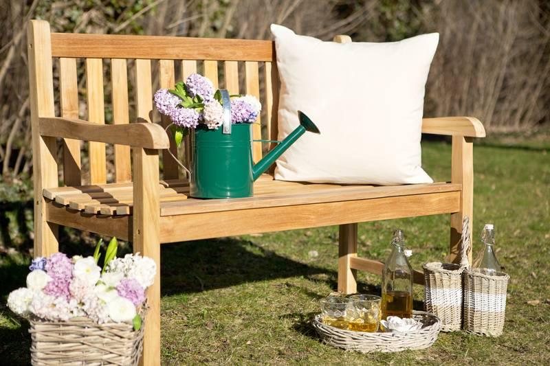 Садовая скамейка со спинкой своими руками: чертежи