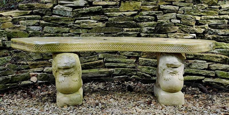Ажурная покупная каменная скамеечка