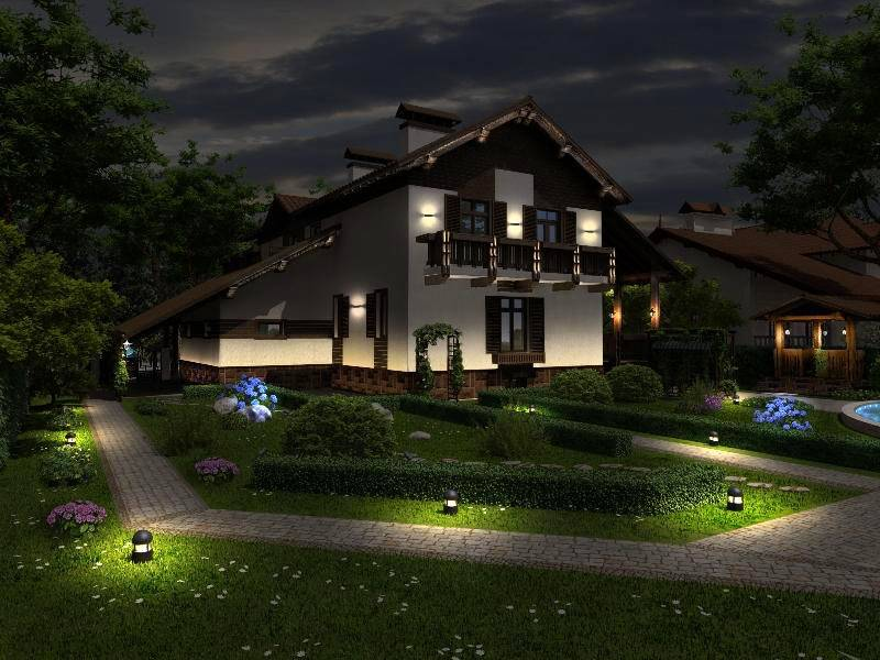 Ландшафтное освещение выполняет важные практические и декоративные функции