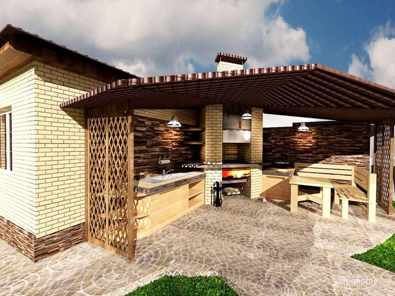 Возле дома можно создать специализированное место для отдыха