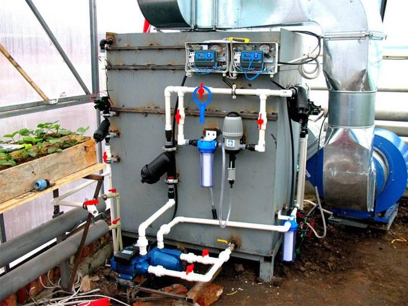 Автоматика уменьшает трудозатраты и расход воды
