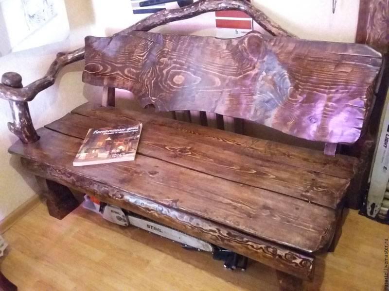 Вариант скамейки в стиле Рустик