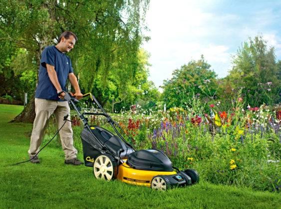 Идеальный газон перед домом создают с применением специализированной техники