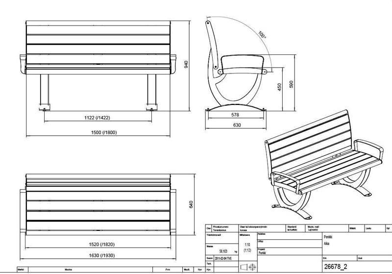 Скамейка со спинкой своими руками схемы и размеры 957