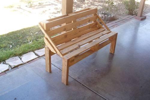 Садовая скамейка со спинкой своими руками: чертежи интересных задумок для реализации