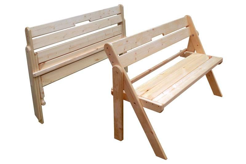 Как сделать складную скамейку из дерева своими руками
