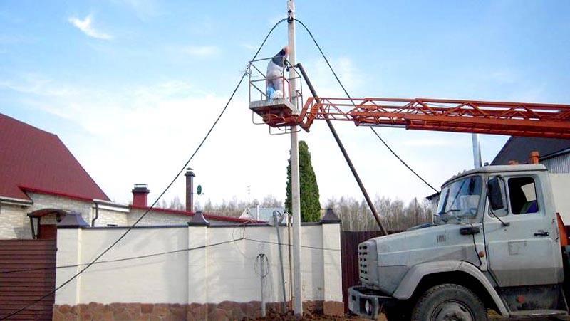 Подключение частного дома к электрической сети