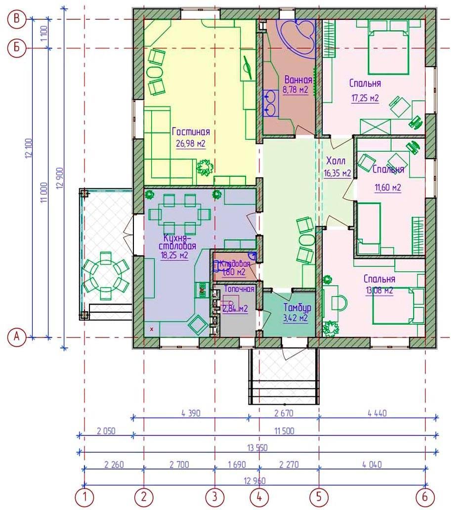 План дома 12 на 12