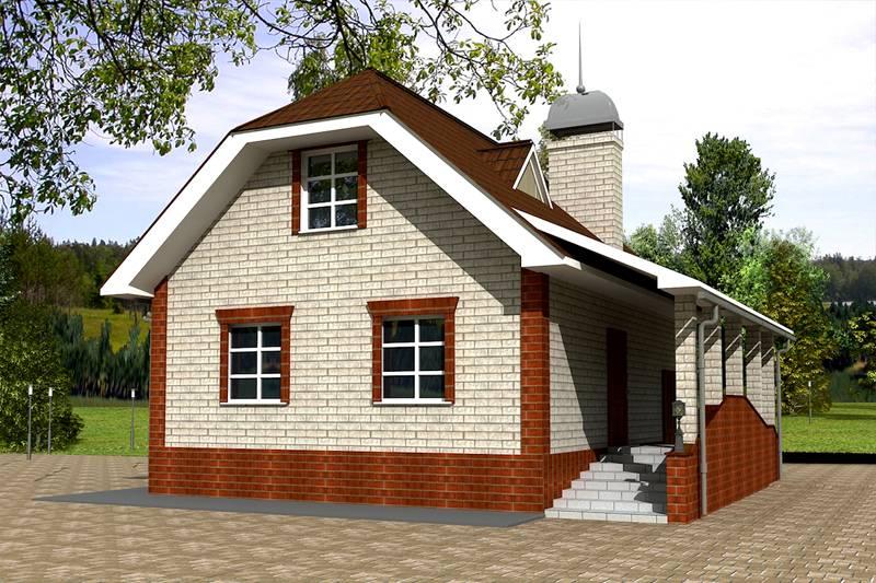 Дом с мансардой из пеноблоков