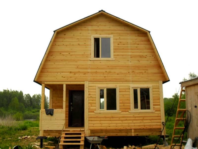 Фото дома с мансардой 6 х 6