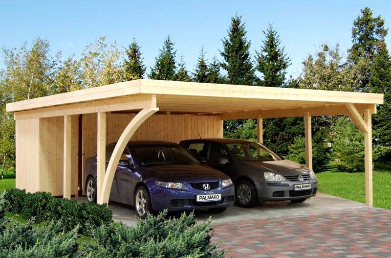 Если машины разные по габаритам, длина и ширина конструкции должна соответствовать самому крупному автомобилю