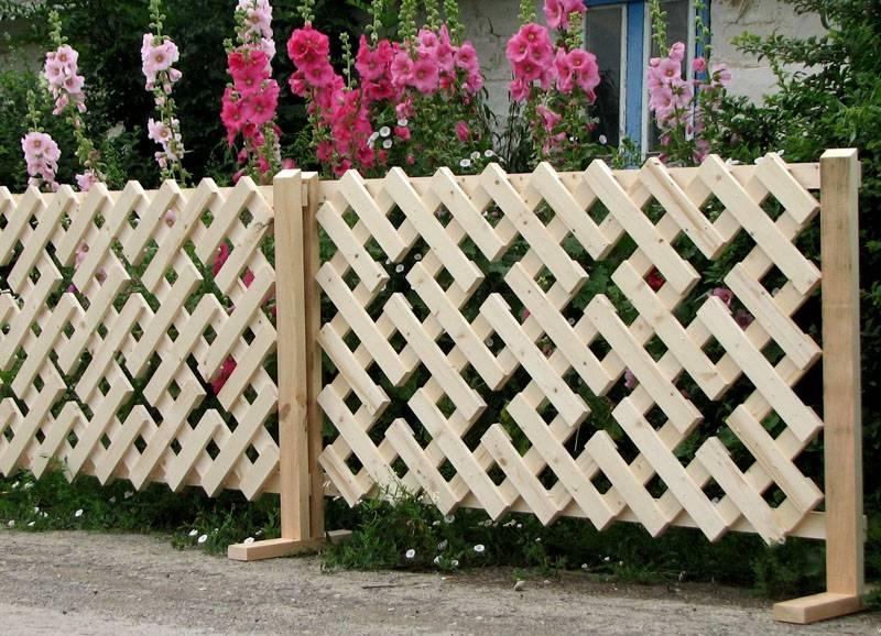 Оригинальный забор-решетка