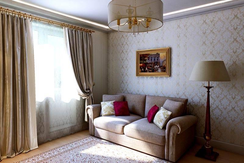 Стильный интерьер не предполагает изобилие отделки и декора