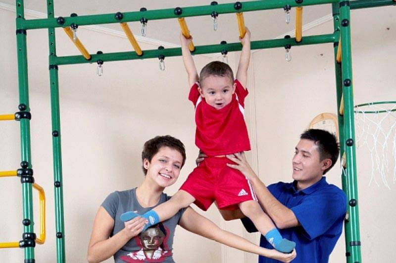 Некоторые конструкции могут использоваться для занятий всей семьи