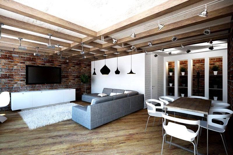 Подобное оформление идеально подойдет для квартиры студийного типа