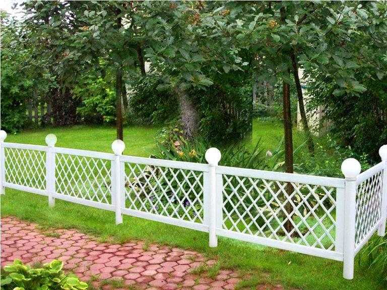 Красивая ограда своими руками фото